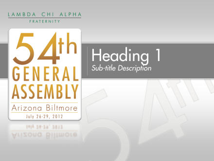 General Assembly PowerPoint Template 1